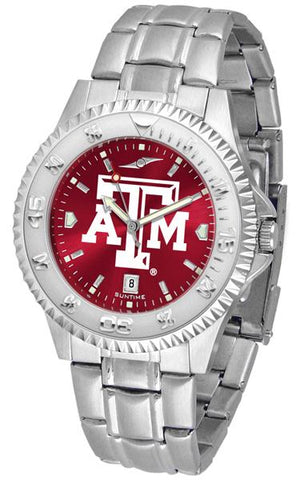 Texas A&M Aggies Competitor Steel AnoChrome Watch