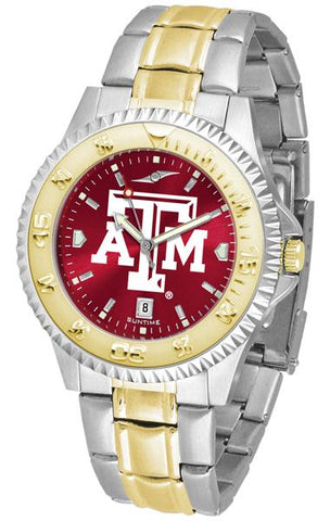 Texas A&M Aggies Competitor Two-Tone AnoChrome Watch