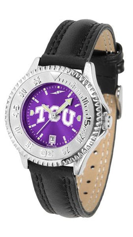 Texas Christian Horned Frogs Ladies' Competitor AnoChrome Watch