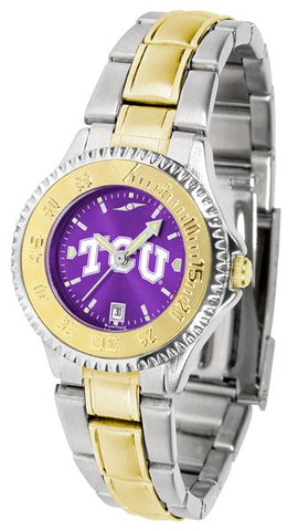Texas Christian Horned Frogs Competitor Ladies Two-Tone AnoChrome Watch