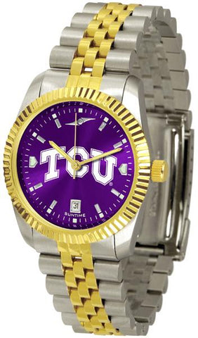 Texas Christian Horned Frogs Men's Executive AnoChrome Watch