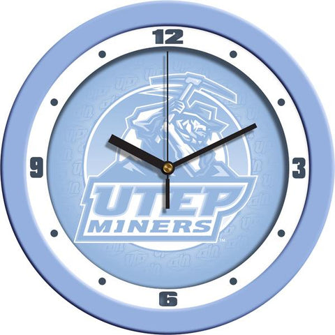 Texas El Paso Miners Baby Blue Wall Clock