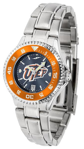 Texas El Paso Miners Competitor Ladies' Steel AnoChrom Watch
