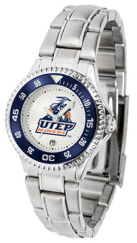 Texas El Paso Miners Competitor Ladies Steel Watch