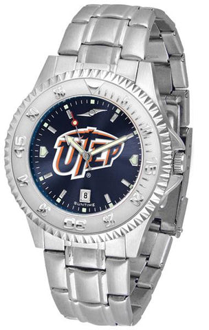 Texas El Paso Miners Competitor Steel AnoChrome Watch