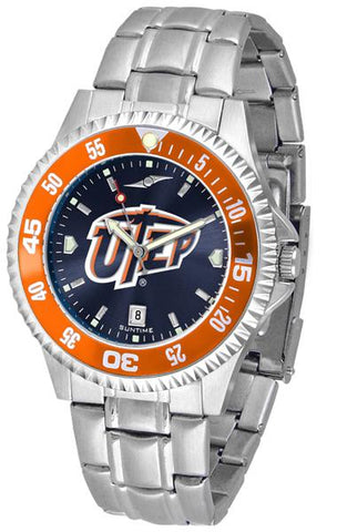 Texas El Paso Miners Competitor Steel AnoChrom Watch