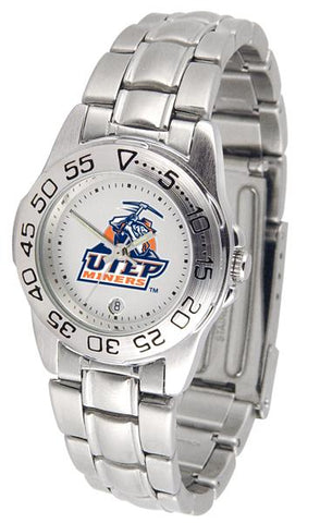 Texas El Paso Miners Ladies' Sport Steel Watch
