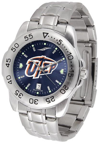 Texas El Paso Miners Sport Steel AnoChrome Watch