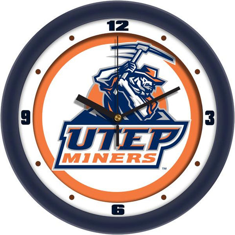 Texas El Paso Miners Traditional Wall Clock
