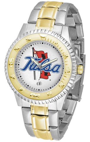 Tulsa Golden Hurricane Competitor Two-Tone Watch