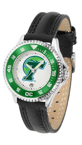 Tulane University Green Wave Competitor Ladies Watch
