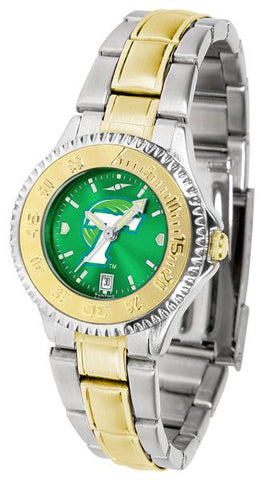 Tulane University Green Wave Competitor Ladies Two-Tone AnoChrome Watch