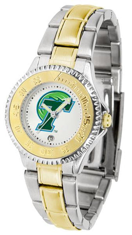 Tulane University Green Wave Competitor Ladies Two-Tone Watch