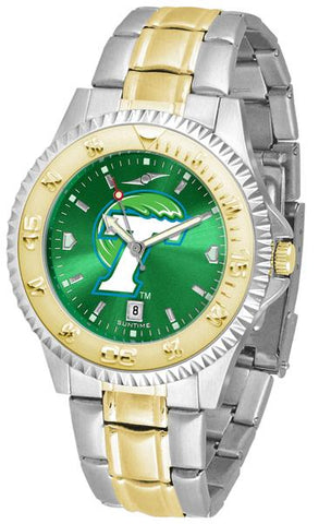 Tulane University Green Wave Competitor Two-Tone AnoChrome Watch