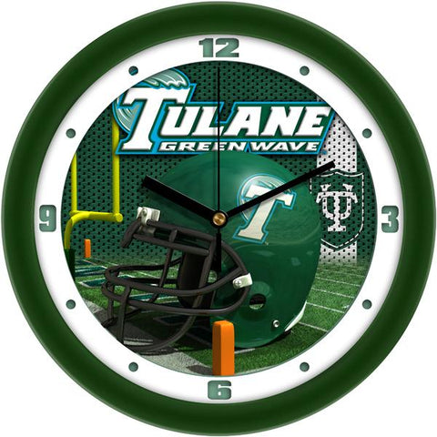 Tulane University Green Wave Football Helmet Wall Clock