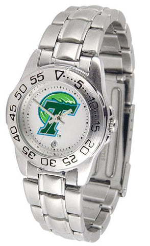 Tulane University Green Wave Ladies' Sport Steel Watch