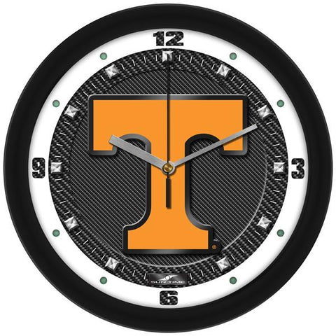 Tennessee Volunteers Carbon Fiber Textured Wall Clock