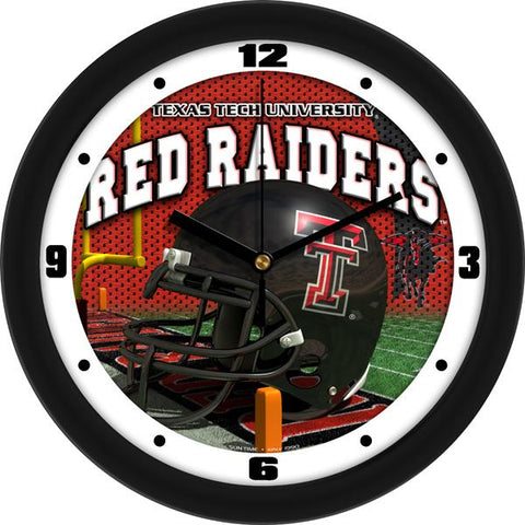 Texas Tech Red Raiders Football Helmet Wall Clock