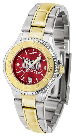 Troy Trojans Competitor Ladies Two-Tone AnoChrome Watch