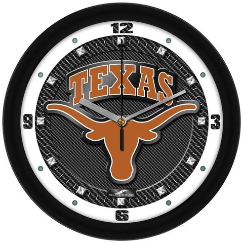 Texas Longhorns Carbon Fiber Textured Wall Clock