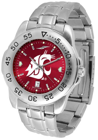 Washington State Cougars Sport Steel AnoChrome Watch