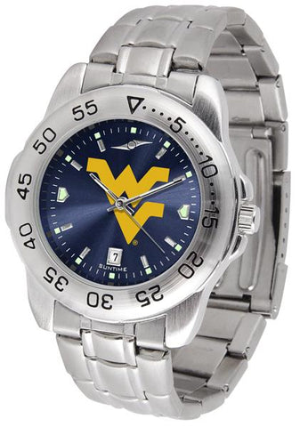West Virginia Mountaineers Sport Steel AnoChrome Watch