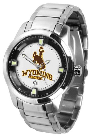 Wyoming Cowboys Titan Steel Watch