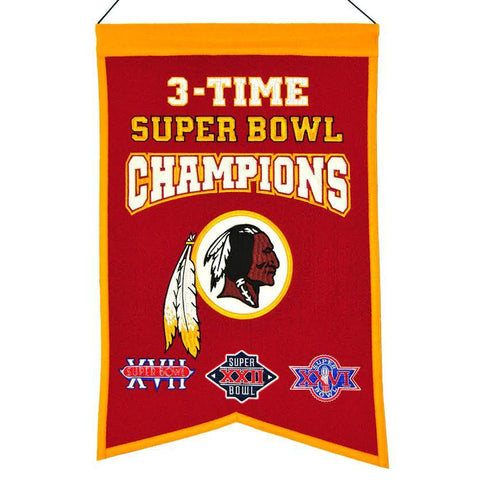 Washington Redskins Wool Champions Banner