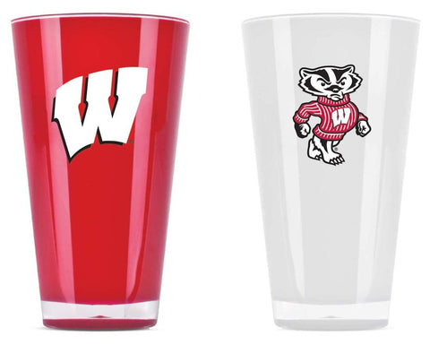 Wisconsin Badgers Tumblers - Set Of 2 (20 Oz)