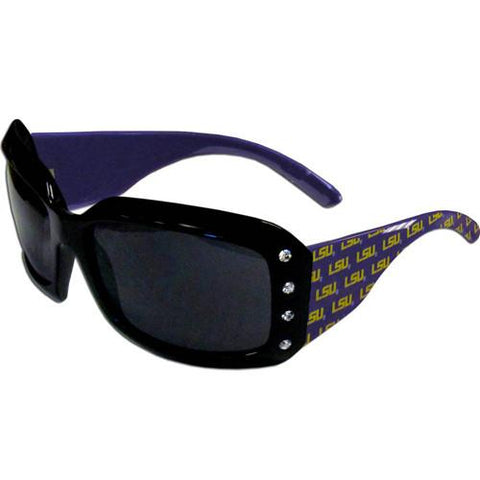 WSunglasses - LSU Tigers NCAA Women's Rhinestone Designer Sunglasses