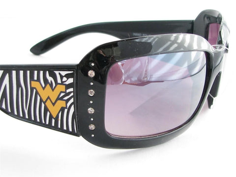 WSunglasses - West Virginia Mountaineers Womens Zebra Sunglasses
