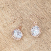 5.5 Ct Rose Gold CZ Drop Earrings