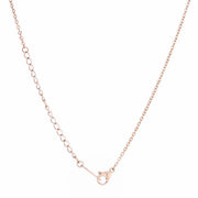 Cathy 0.2ct CZ Rose Gold Stainless Steel Drop Nail Necklace