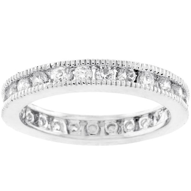 Classic Milgrain Eternity Band