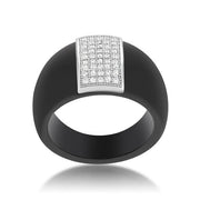 Black Ceramic Cocktail Ring
