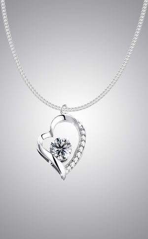 J. Christian Collection Love Heart Necklace Pendant Sterling Silver