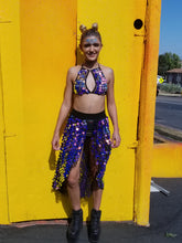 Electric Lavender Long Sequin Skirt