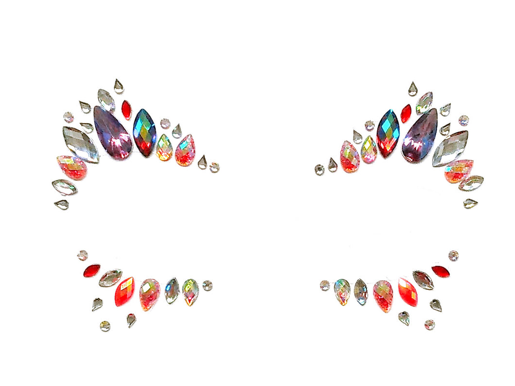 Strawberry Rhinestone Crystal Face Jewels