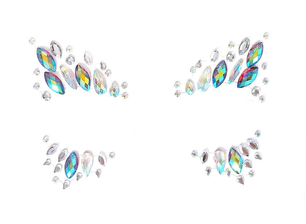 Mermaid Goddess Rhinestone Crystal Face Jewels
