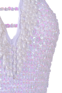 Hand-Stitched Sequin Bodysuit - Techno Doll
