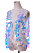 Iridescent Unicorn Tears Sequin Vest
