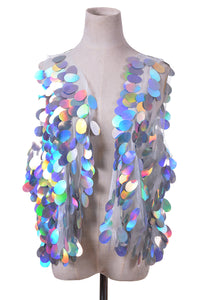 Pastel Meadow Sequin Vest