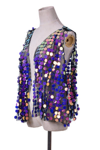 Electric Lavender Sequin Vest