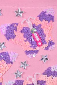 Hand-stitched Pink Butterfly Playground Set