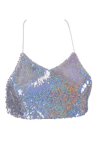 Reversible Sequin Top & Halter Top - Holographic