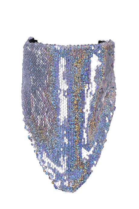 Reversible Sequin Bandana & Face Mask - Holographic