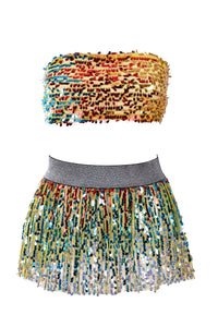 Palace Queen Sequin Set (Tube Top + Skirt)