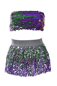Mermaid Sequin Set (Top & Skirt)