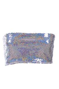 Holographic Sequin Tube Top