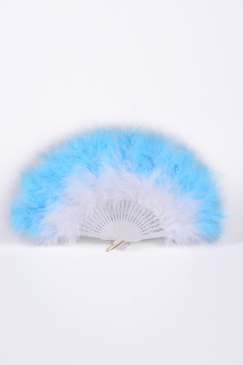 Big Fuzzy Fur Fan - Baby Blue